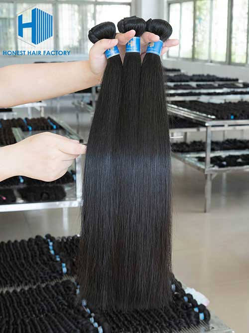 Wholesale 8-50 Inch Straight Premium Brazilian Hair #1B Natural Black