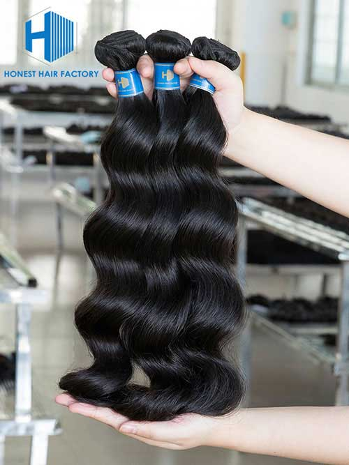 Wholesale 8-50 Inch Loose Wave Premium Brazilian Hair #1B Natural Black