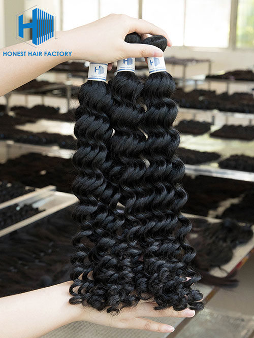 Wholesale 12-28 Inch Deep Wave Mink Malaysian Hair #1B Natural Black