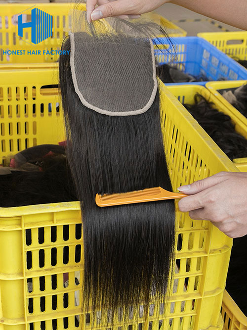 Wholesale 8-22Inch Straight Pre-plucked 5*5 HD Lace Closure