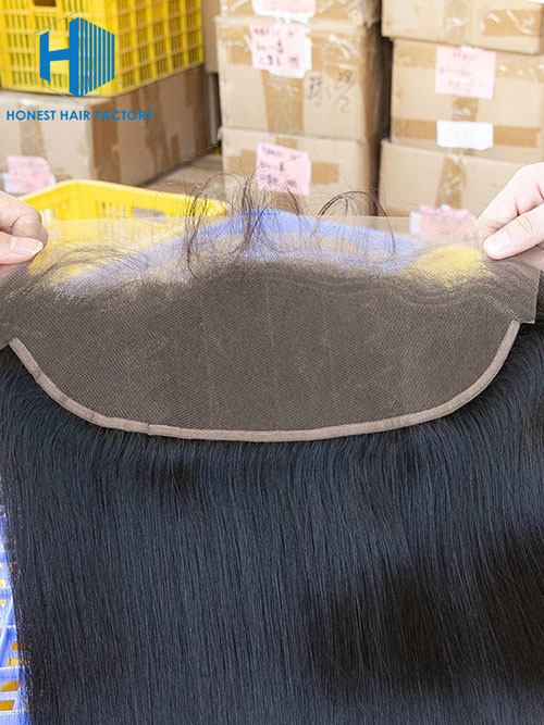 Wholesale 8-22Inch Straight Pre-plucked 13*5 Transparent  Lace Frontal