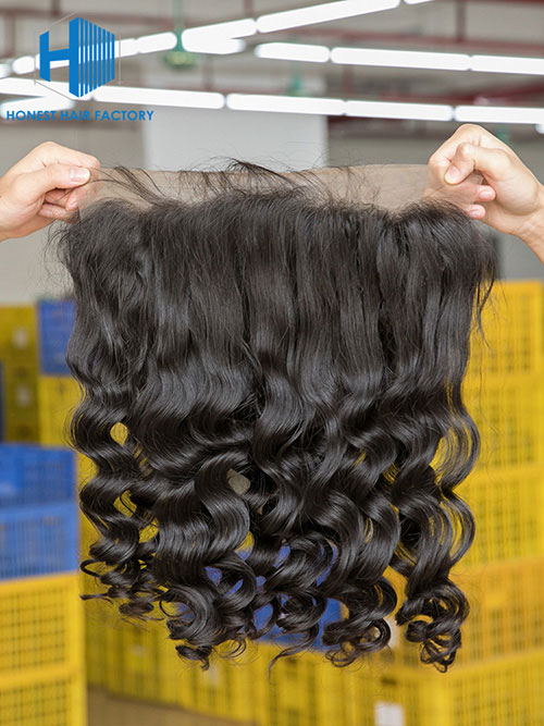 Wholesale 8-22Inch Loose wave Pre-plucked 13*5 Transparent  Lace Frontal