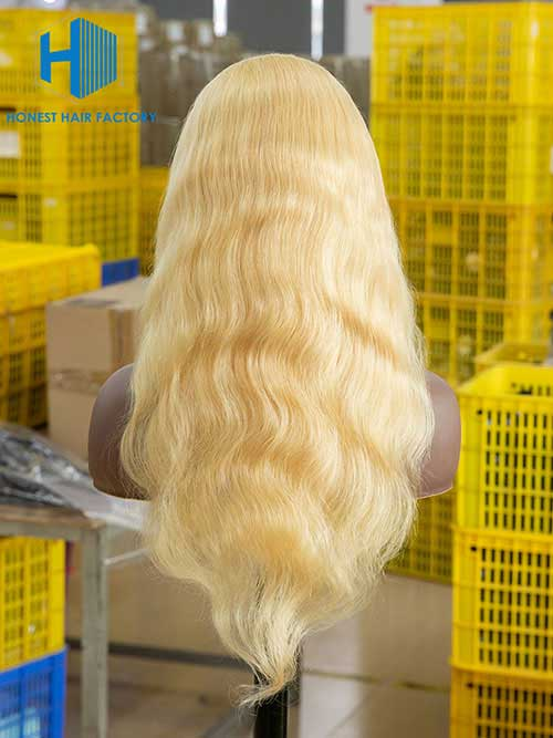 Wholesale 150% Body Wave Full Lace Wig 613#Blonde Color